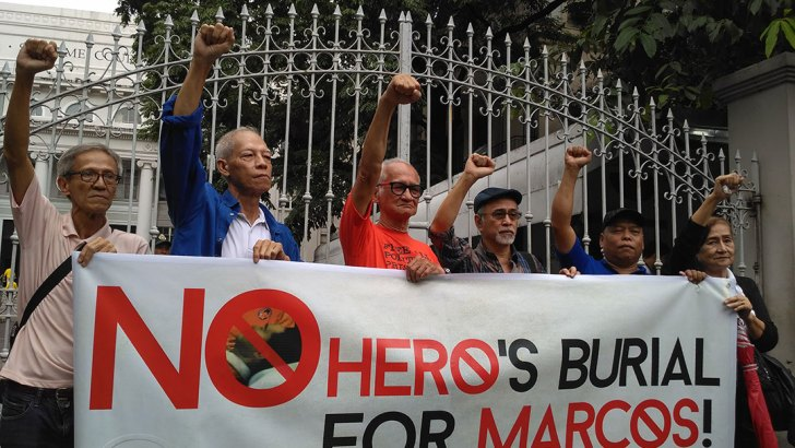 Martial law survivors urge high court to stop hero's burial for Marcos