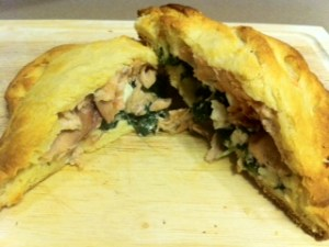 Easy Salmon Spinach Hot Pockets