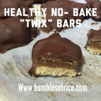 "Healthy No-Bake ""Twix"" Bars"