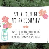 Free Printable: Will You Be My Bridesmaid Card