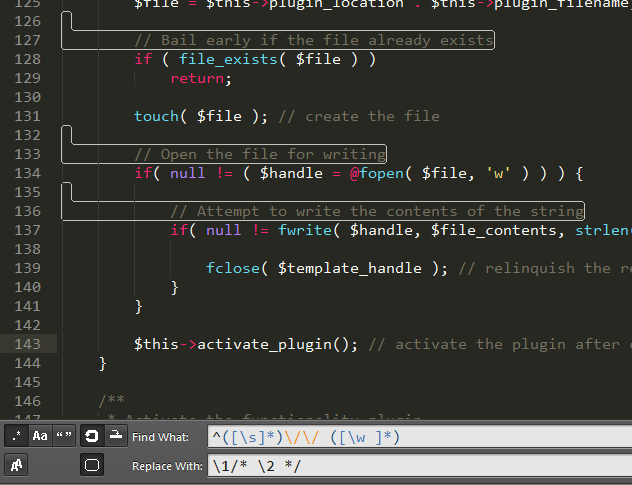 Testing out the regex in Sublime Text