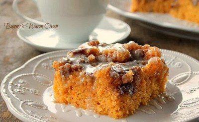 Sweet Potato Cinnamon Roll Cake