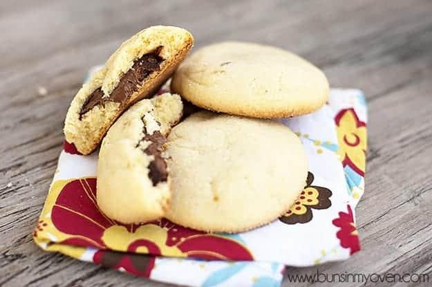 Nutella Filled Sugar Cookies