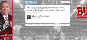 Coach Chambers celebrates his win via Twitter