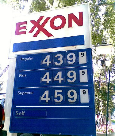 Get ready to see these prices at the pump this summer. From flickr user brownpau