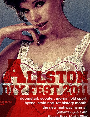 Allston DIY Fest 2011 comes to Ringer Park this Saturday, poi and all | Poster courtesy Allston DIY Fest