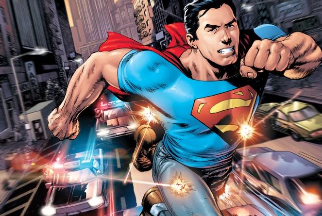 Superman rocking denim | Courtesy DCComics.com