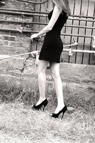A black dress and high heels do not an idiot make. | from flickr user xlordashx.