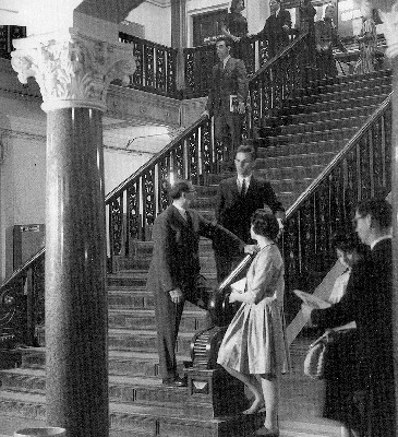 The marble hallway of CGS' first location in Copley Square.   Photo courtesy of Rob Oresick, CGS