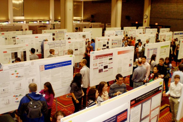 214 UROP participants displayed their research in the Metcalf Ballroom on Friday | Photo by Yasmin Gentry