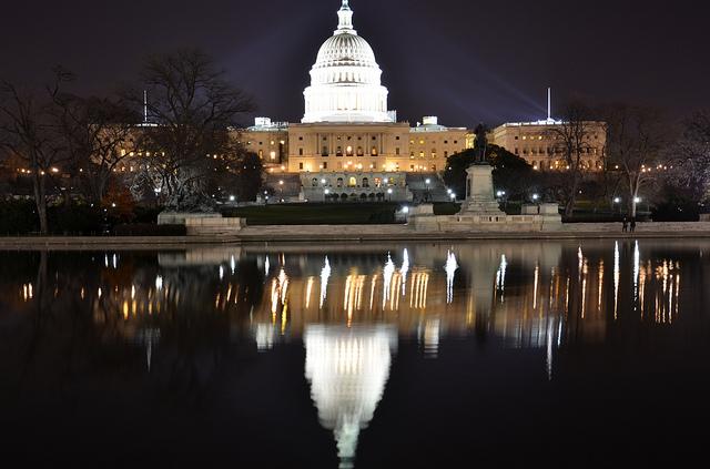 In the House Chamber, President Barack Obama addressed the legislature on several issues.   Photo courtesy of Flickr user sankar govind