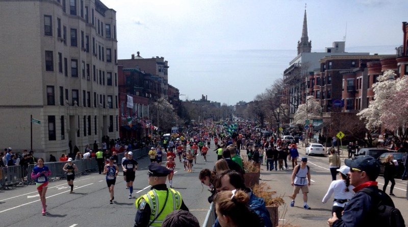 Runners in yesterday's Boston Marathon. | Photo by Allan Lasser