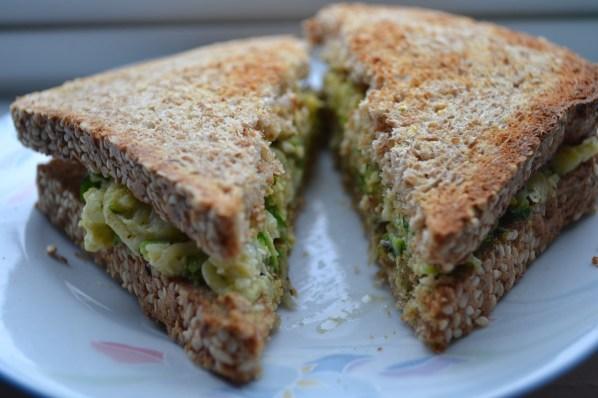 Zucchini Egg Sandwich. | Photo by Samantha Wood
