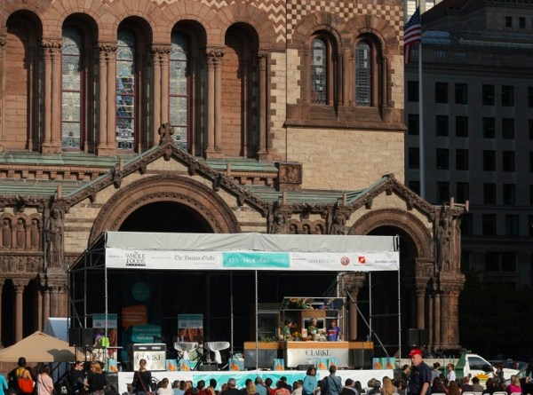 Copley Square's Trinity Church acts as the Fest's backdrop - Photo by Hanna Klein