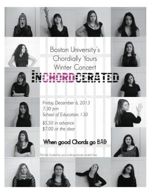 The sassy InCHORDcerated event poster | Photo courtesy of Chordially Yours