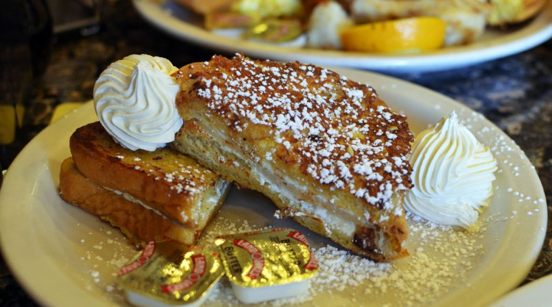 Pear and Goat Cheese French Toast at Ball Square Cafe | photo by Kara Korab