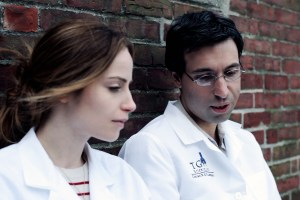 Alex Karpovsky and Jaime Ray Newman share an intimate moment in Rubberneck | Photo courtesy of rubberneckfilm.com