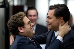 Left to right: Jonah Hill plays Danny and Leonardo DiCaprio plays Jordan Belfort in THE WOLF OF WALL STREET, from Paramount Pictures and Red Granite Pictures. | Image courtesy of the film's promotional webpage, www.thewolfofwallstreet.com
