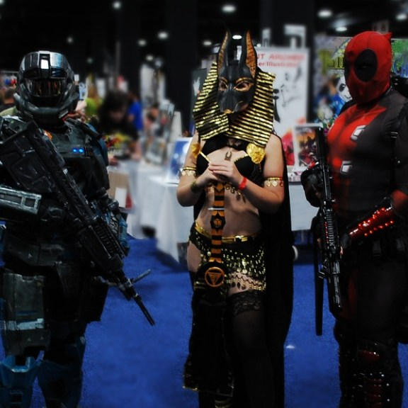 A character from Halo, Anubis and Deadpool