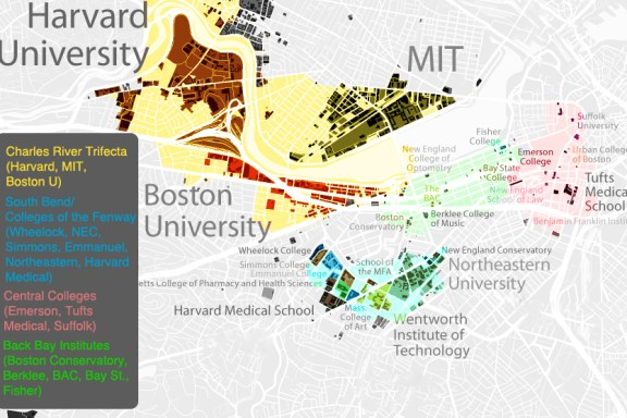 There are nearly 30 higher education institutions in Boston | Photo courtesy city-data.com.