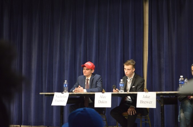 The debate was moderated by Alec Dakin, but that didn't stop boo's and hecklers.