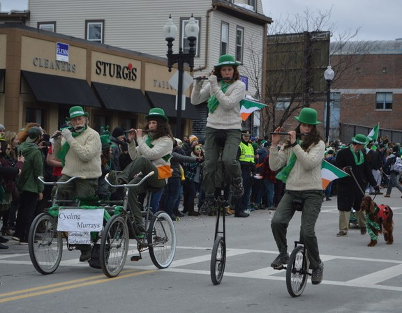The Cycling Murray's cycled down the streets of South Boston this past Sunday.