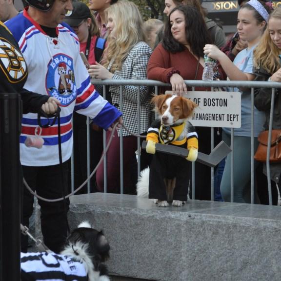A Bruins costume.