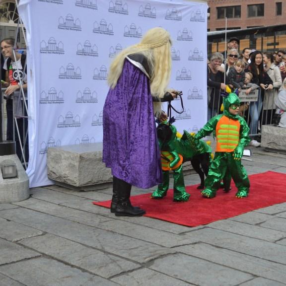 Dragon costumes.