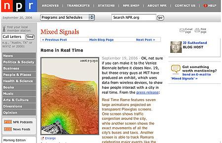 NPR Real Time Rome