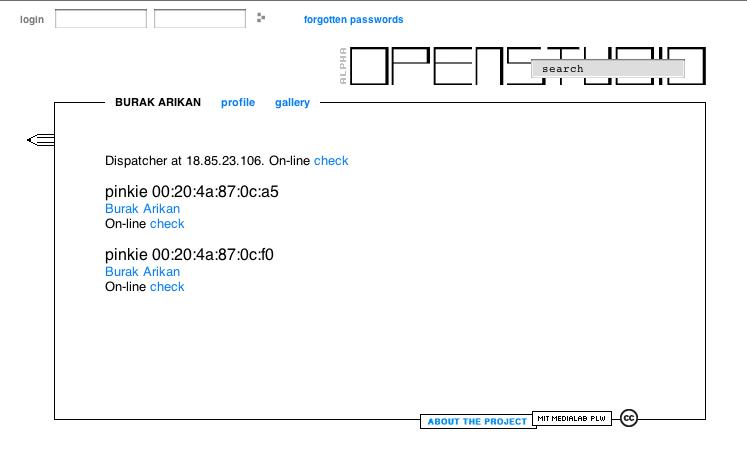 Open I/O service as an application on the OPENSTUDIO platform.