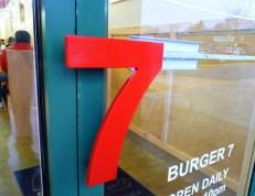 A '7' at Burger 7? Whoda thunk?