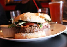 The Squirrel's burger is a beauty.