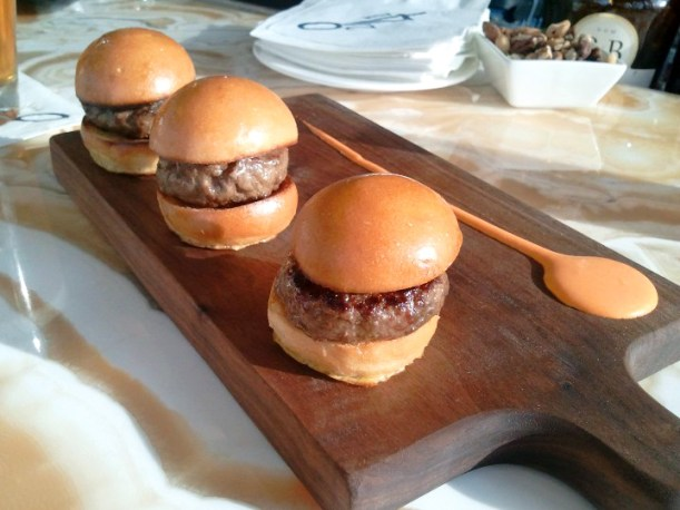 Waguy slid--, err, mini-burgers.