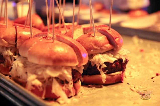 Meatball Shop's Reuben burger was a damn tasty one.