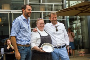 Bourbon Steak's Jessica Biederman takes home the Chef's Choice award.