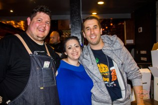 The Commodore's Travis Weiss, Deaf-REACH's Jennifer Heiser and Burger Days' Jody Fellows.