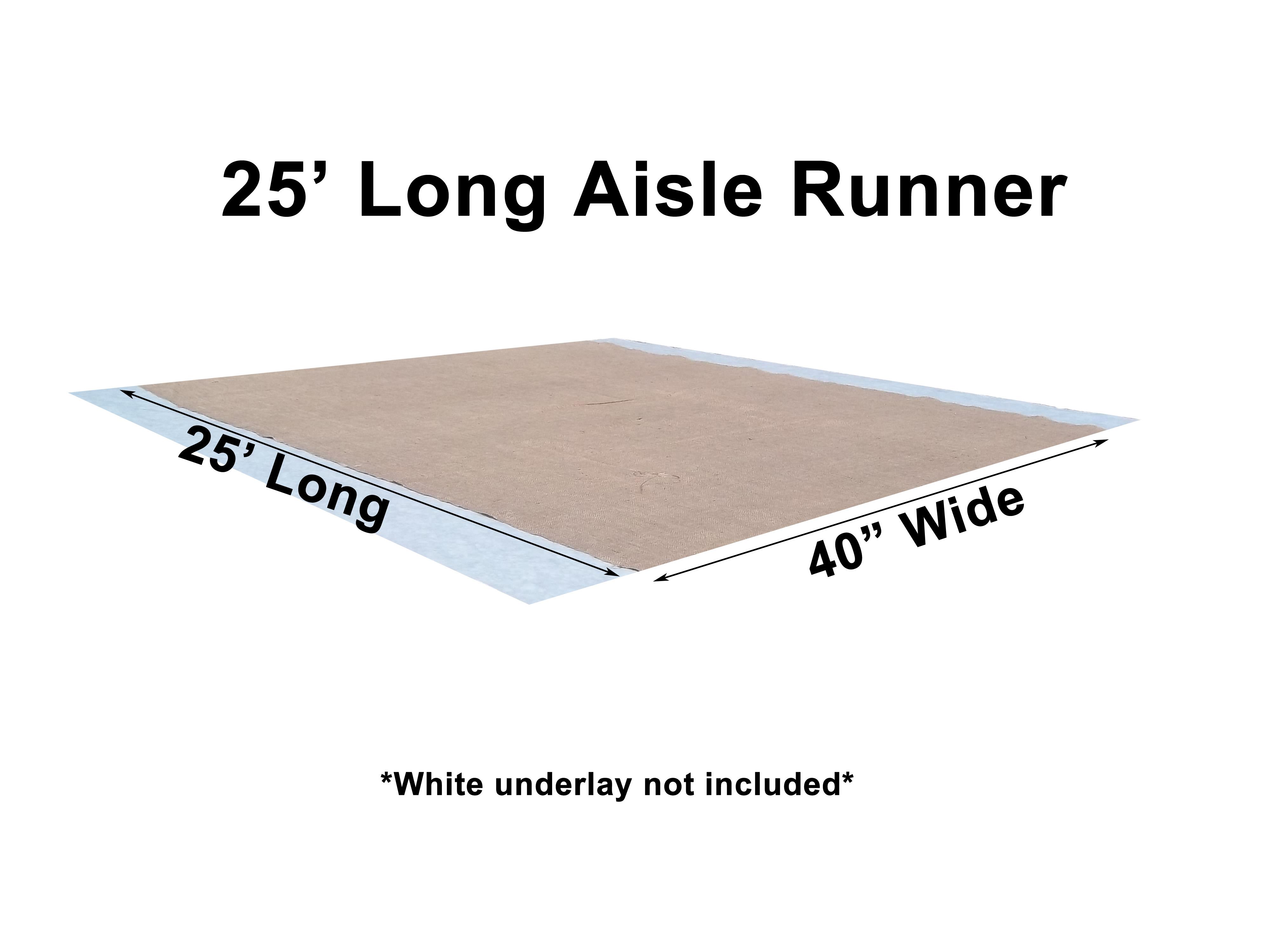 burlap aisle runners wedding runners 40 Inch Width Burlap Aisle Runner 25 Feet