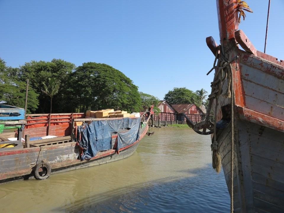 Typical Rakhine boats.