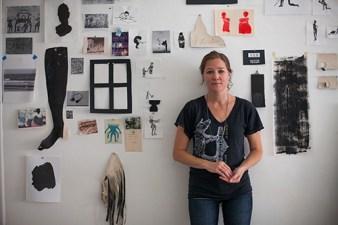 Amy Pleasant in her studio, 2013. (Photo: Jason Wallis)