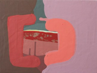 Sydney Cohen, Sharing a Sandwich, 2013; acrylic on panel, 9 by 12 inches.