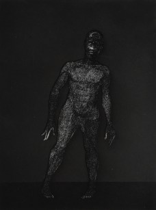 Kerry James Marshall, Frankenstein, 2010; hardground etching, 22.5 by 19 inches.