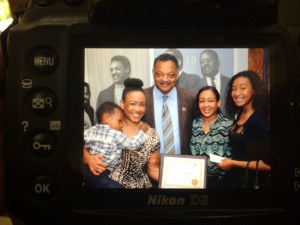 I was honored to receive recognition from the Rainbow P.U.S.H. Coalition. According to Rev. Jackson, my glory comes from my story.