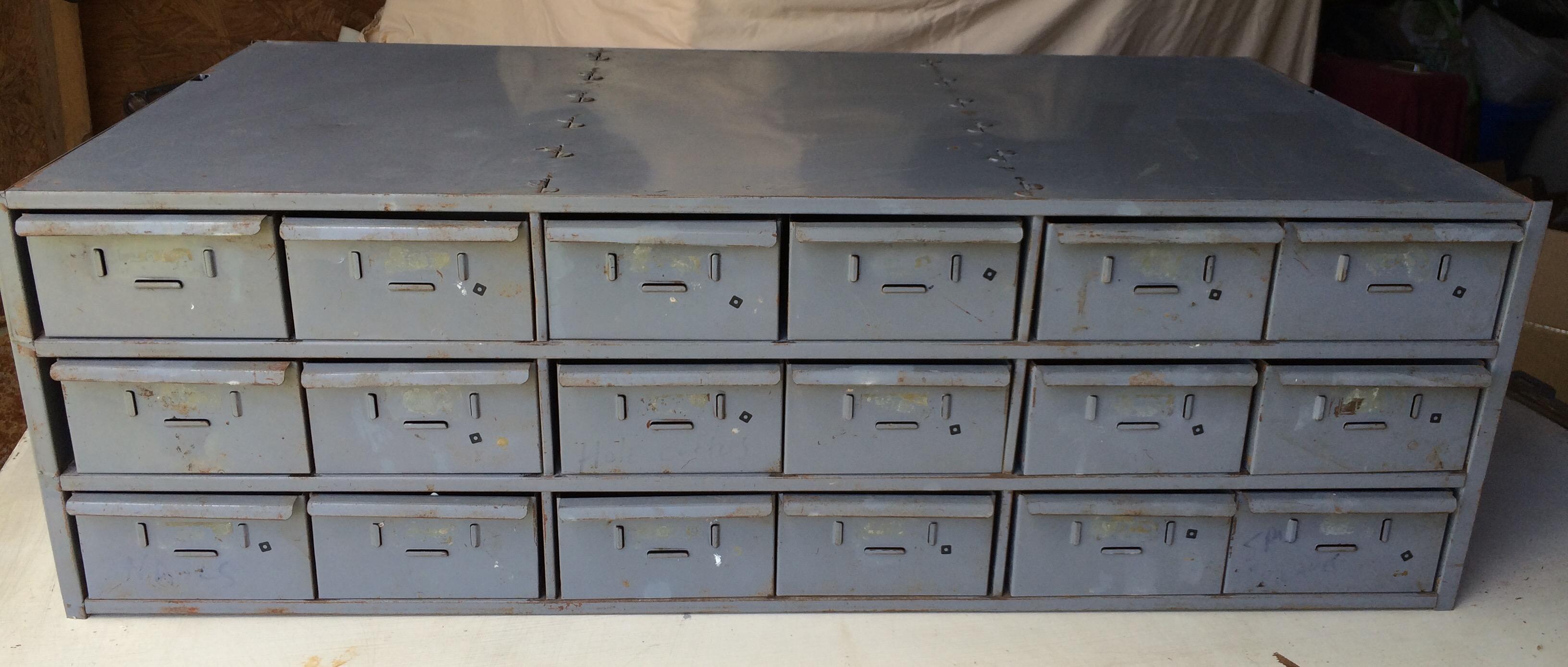 Vintage Metal File Cabinet.