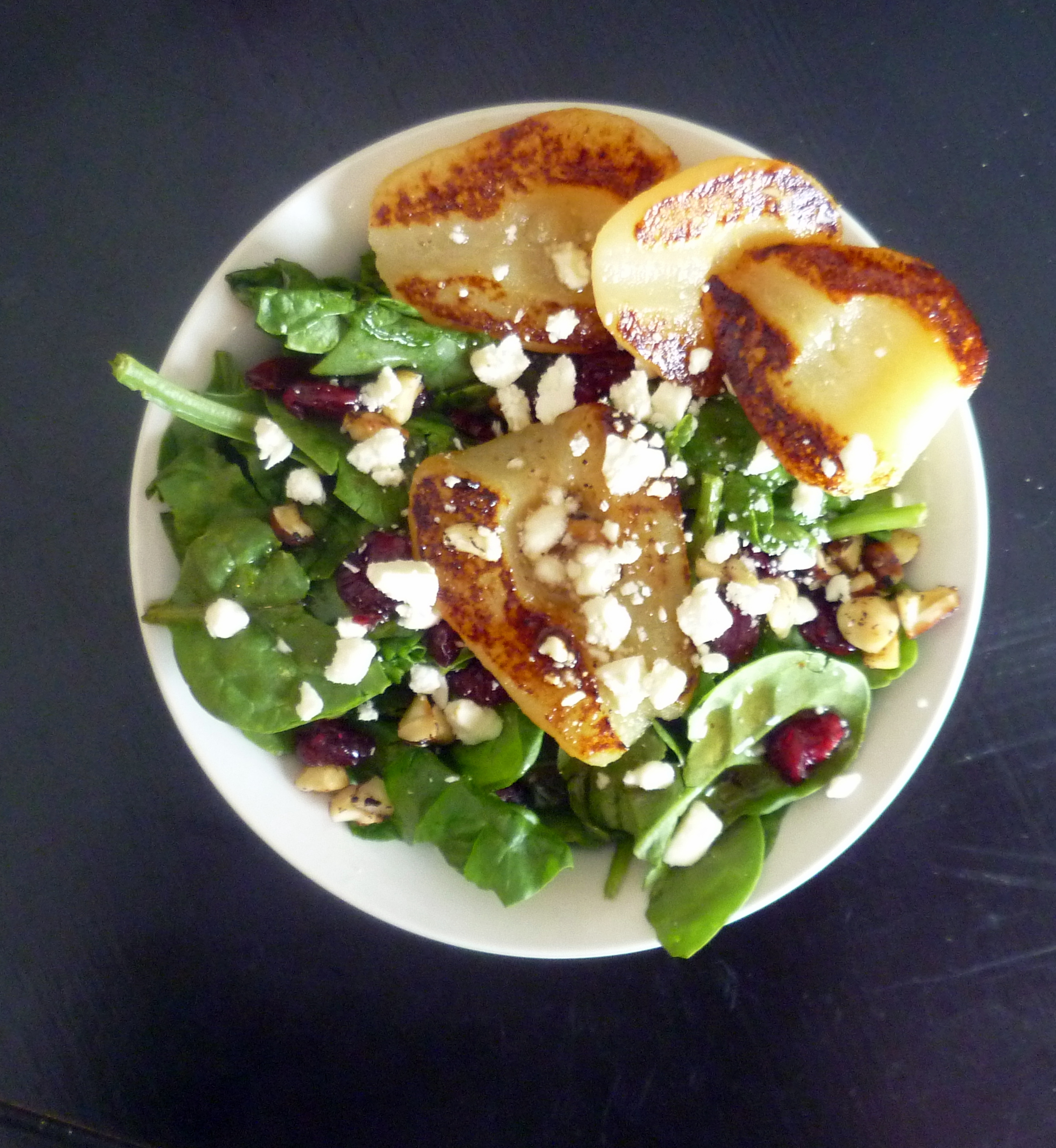 Grilled Pear Salad with Sweet Honey Pear Vinaigrette