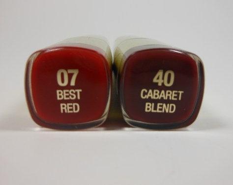 Milani Lipsticks Best Red and Cabaret Blend