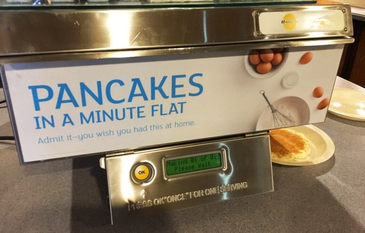 Holiday Inn Express Pancake Machine - Bustedwallet.com