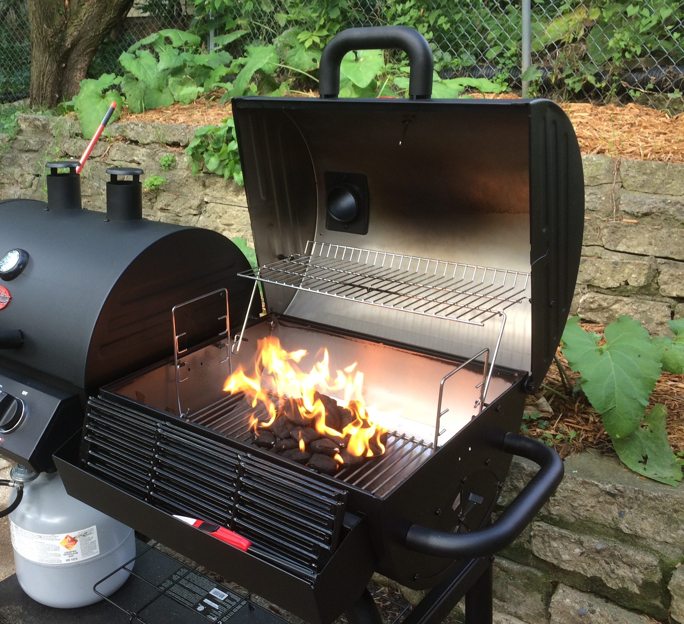 char griller duo 50 50 grill review busted wallet