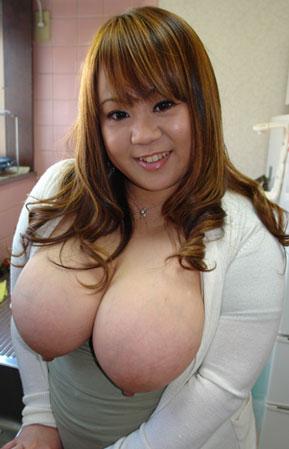 flashing huge tits at work