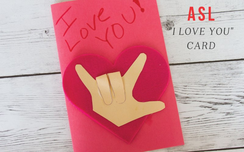 ASL I-Love-You Craft