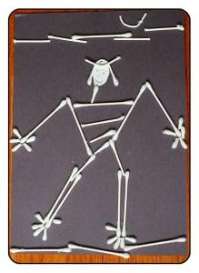 Preschool Art: Q-tip Skeleton